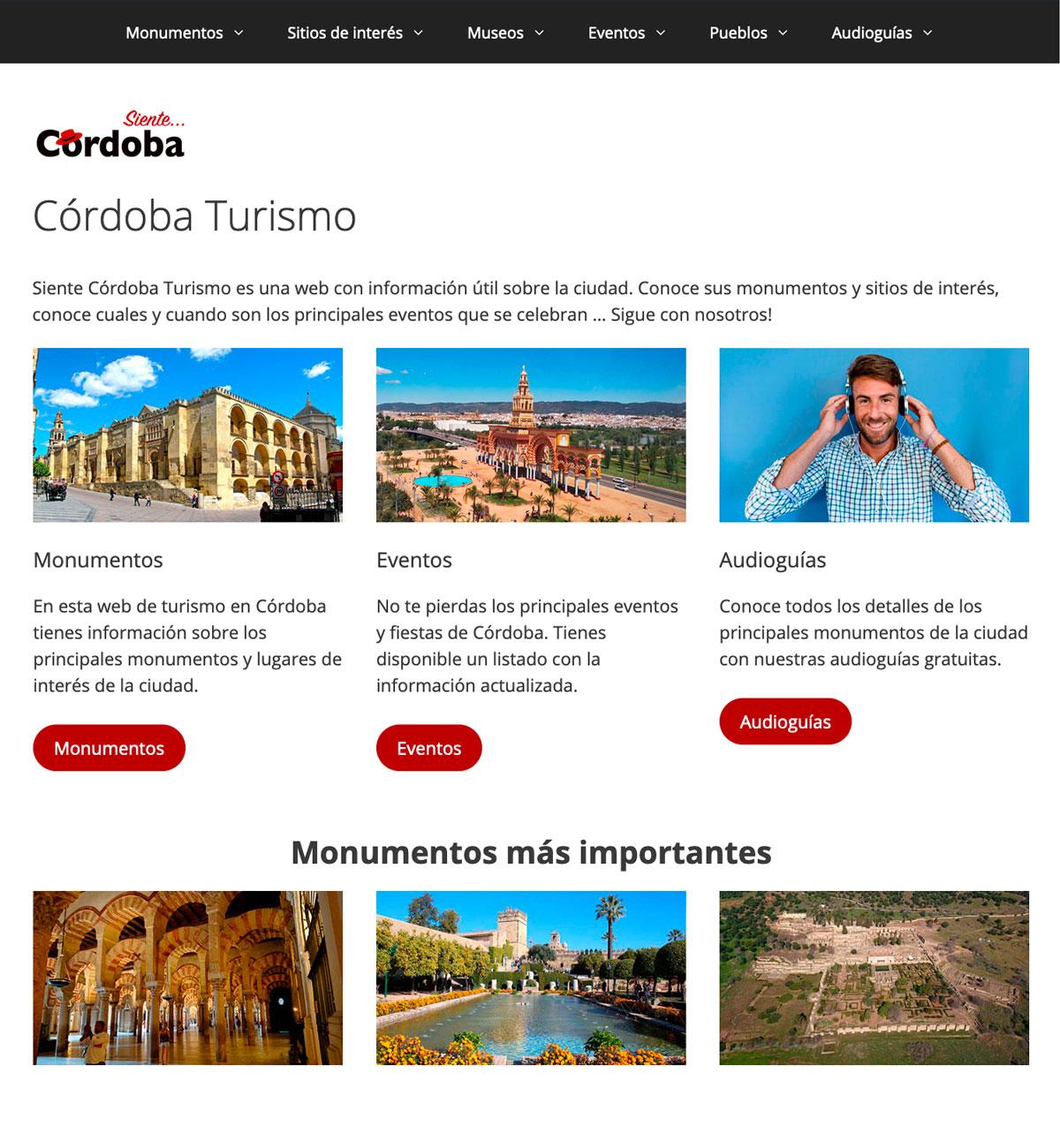 Página web Siente Córdoba